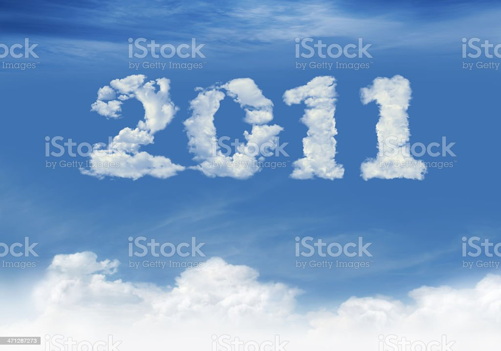 New Year: 2011 royalty-free stock photo