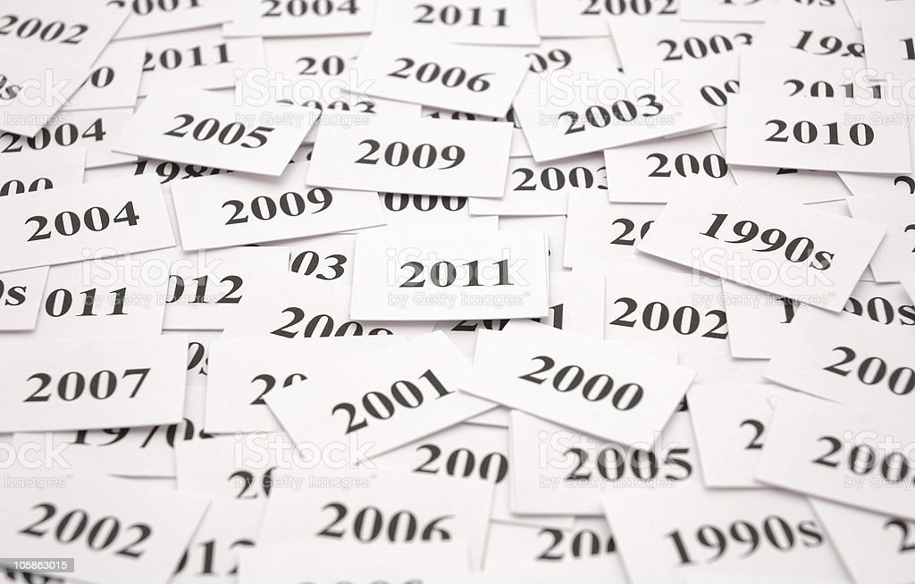 new year 2011 time word theme royalty free stock photo