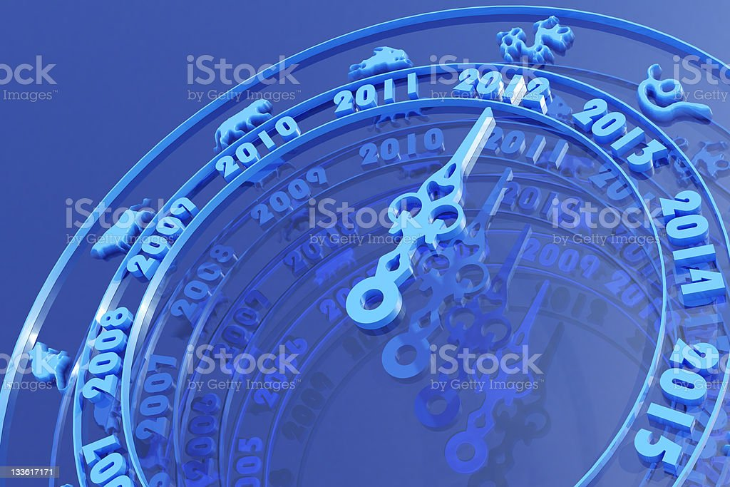 New year 2012 calendar royalty-free stock photo