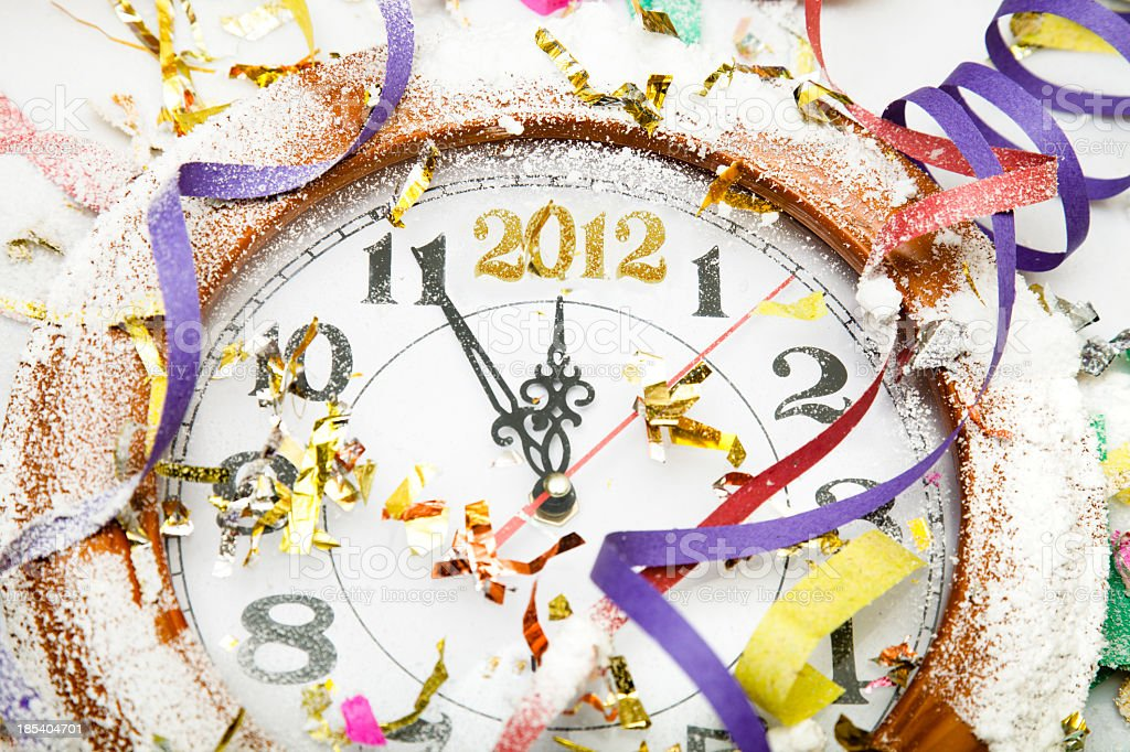 New year 2012 concept stock photo