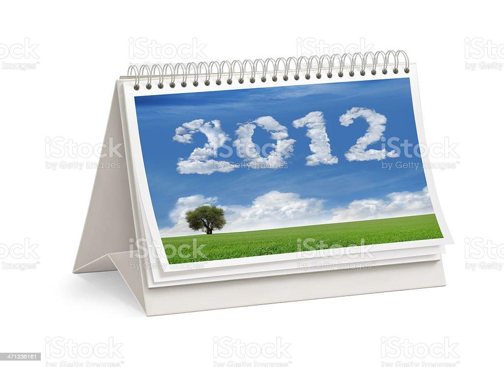 New Year 2012 Desktop Calendar Cover royalty-free stock photo