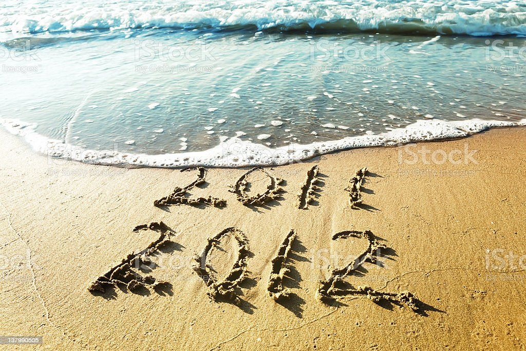 New Year 2012 is coming concept stock photo