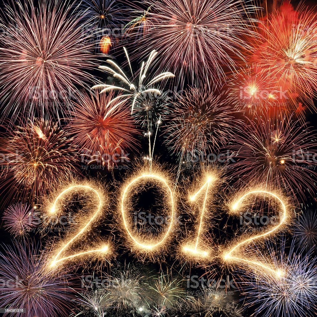 New Year 2012 royalty-free stock photo
