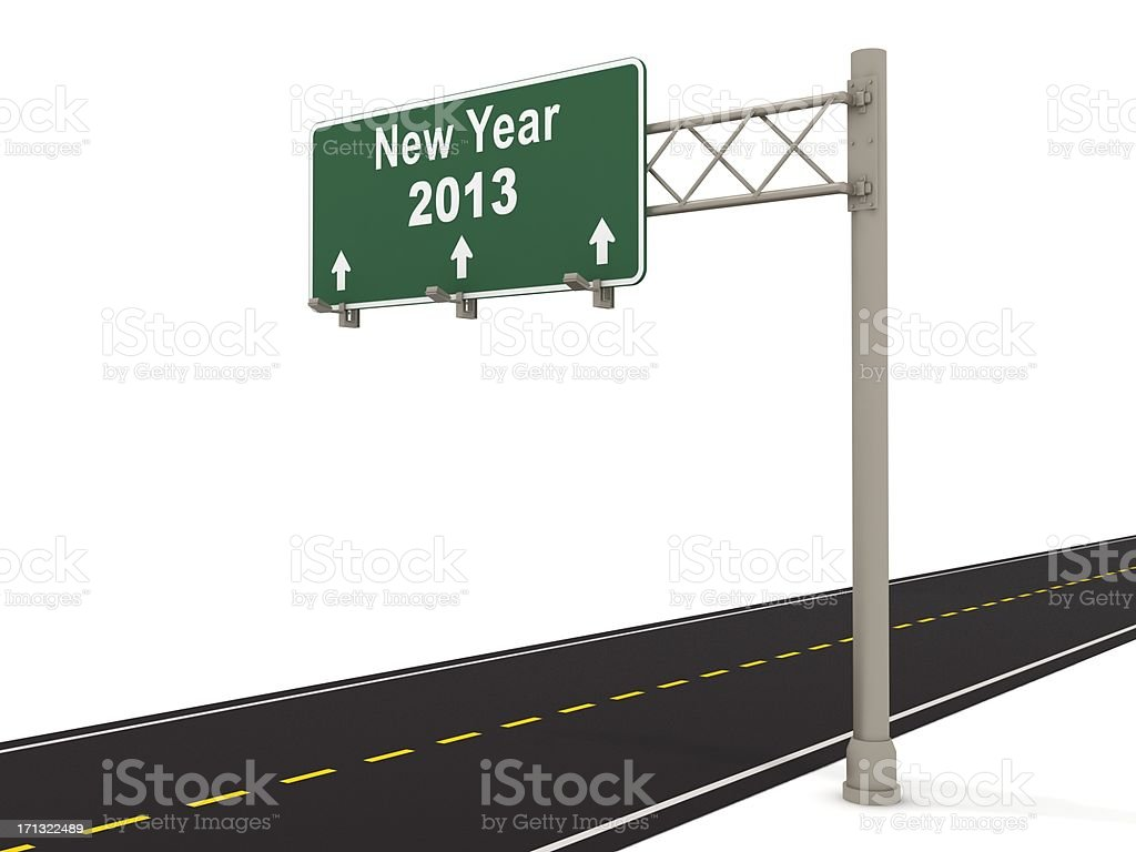 New Year 2013 Ahead royalty-free stock photo