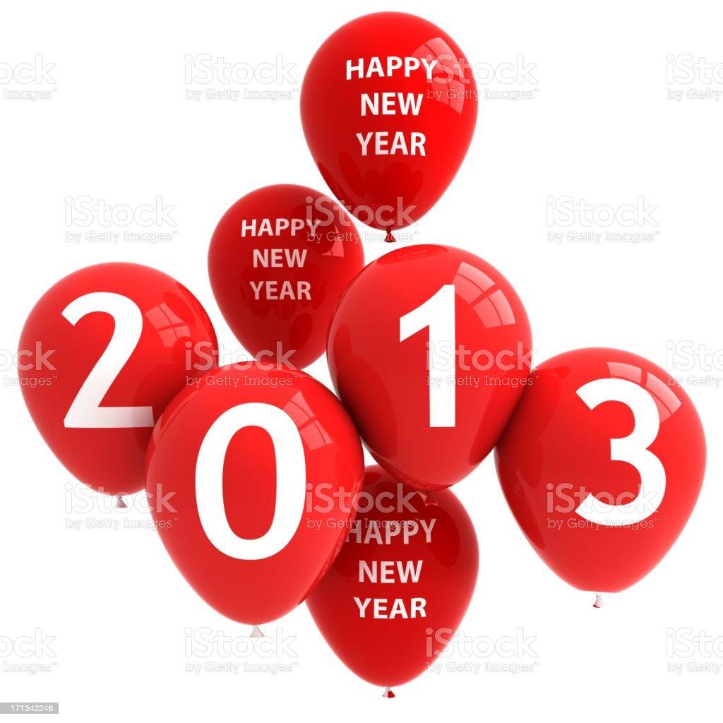 New Year 2013 Balloons royalty-free stock photo