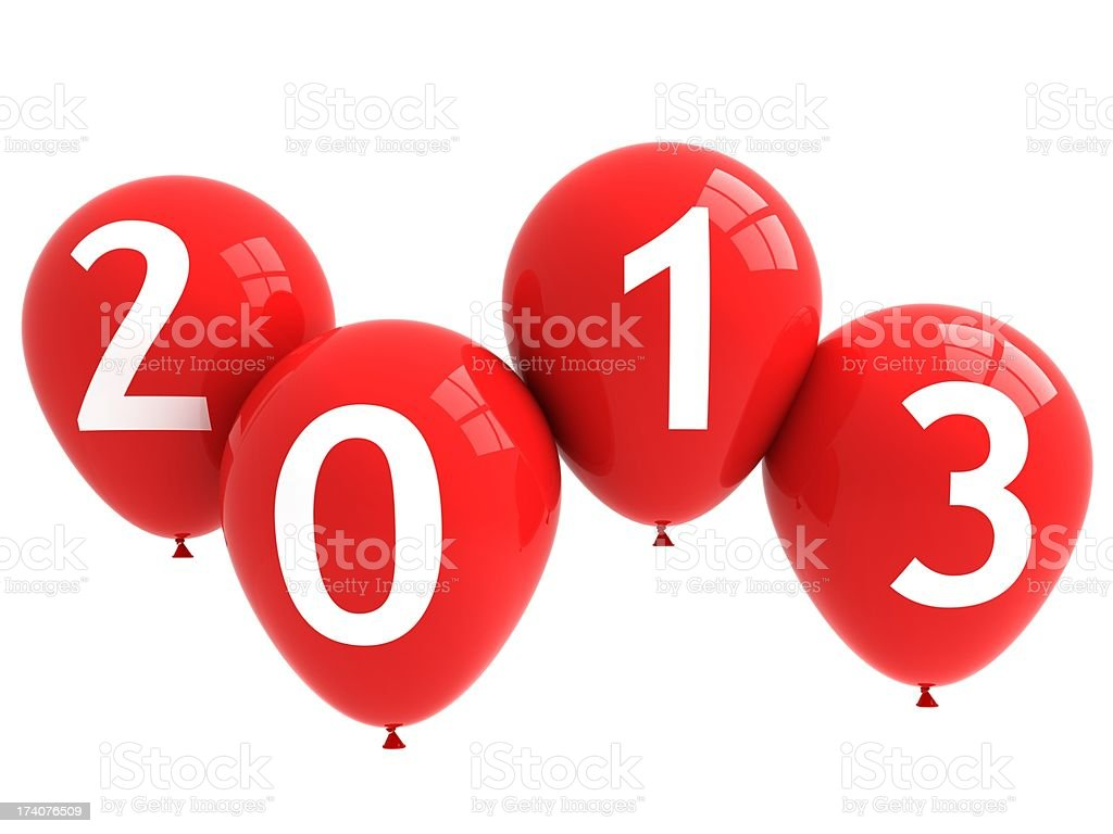 New Year 2013 Balloons royalty-free stock photo