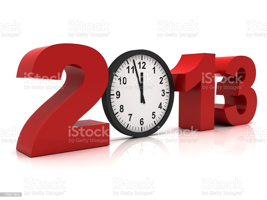 New Year 2013 royalty-free stock photo