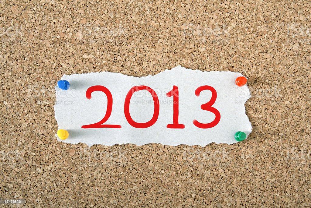 New year 2013 stock photo