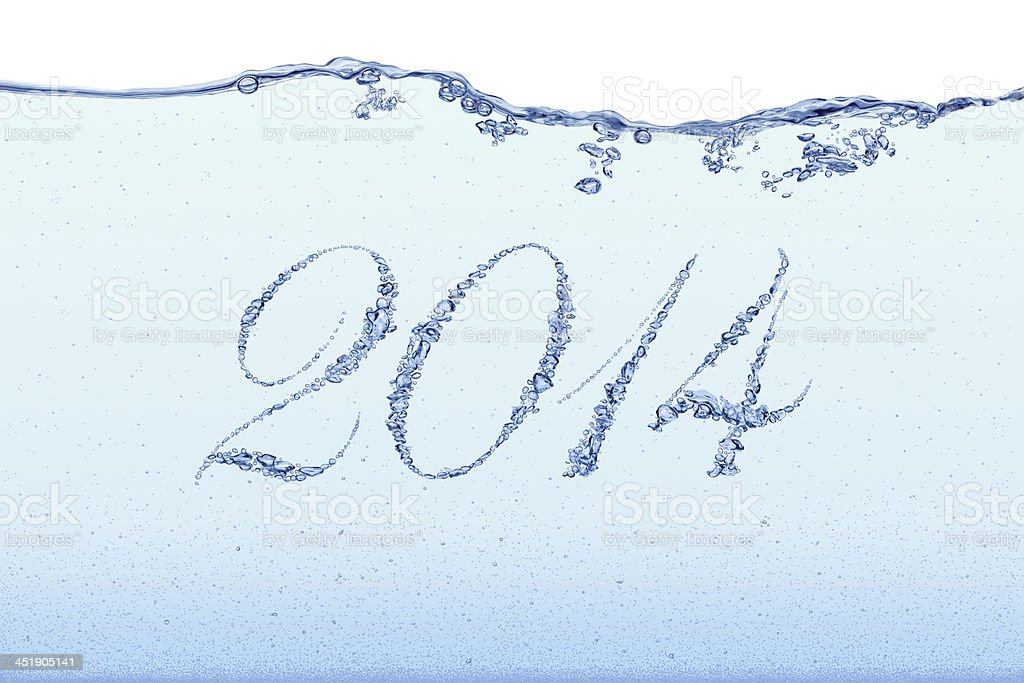 New Year 2014 - Bubbles royalty-free stock photo