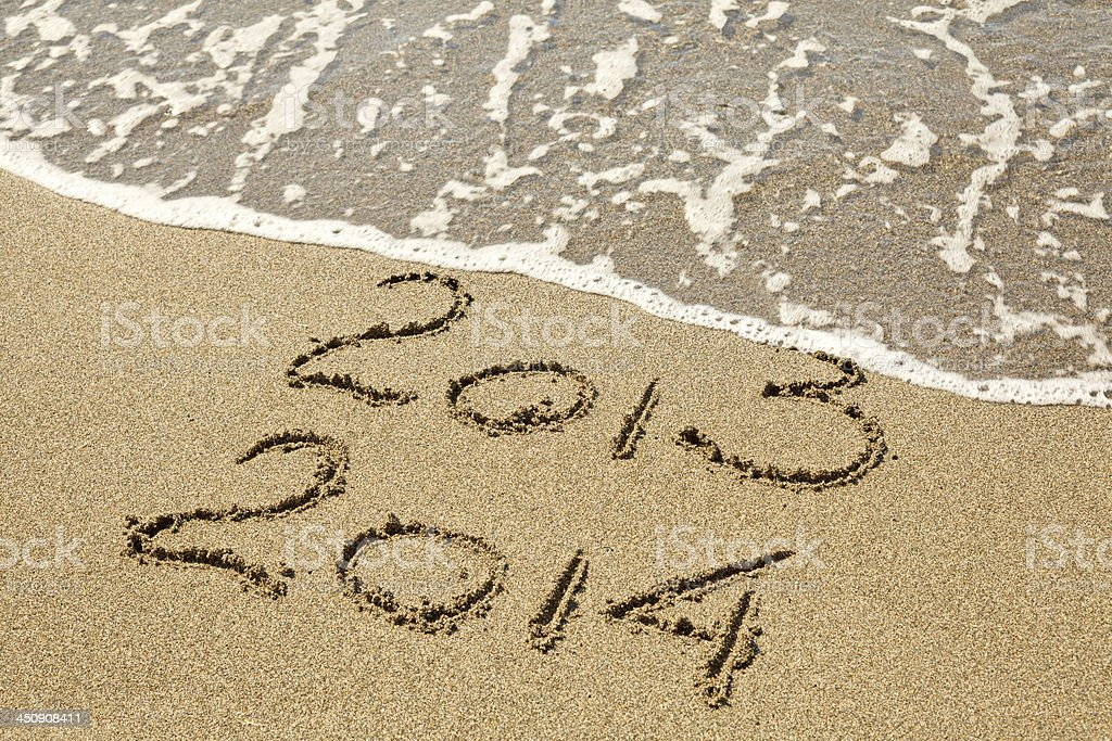 New Year 2014 is coming. stock photo