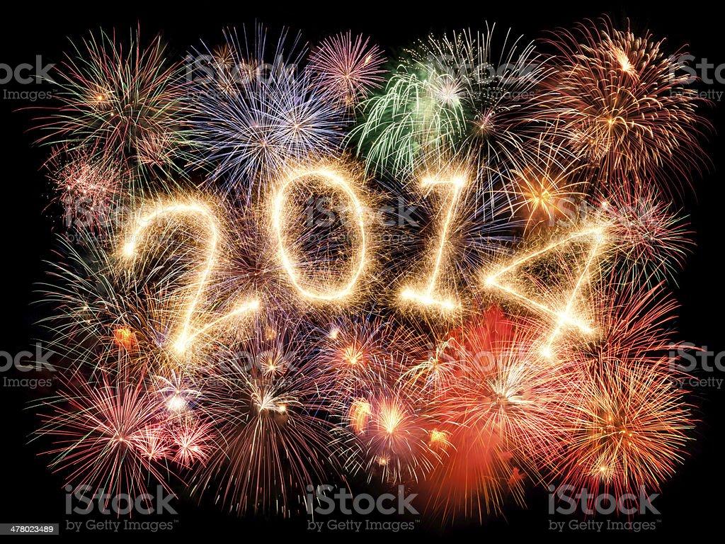 New Year 2014 royalty-free stock photo