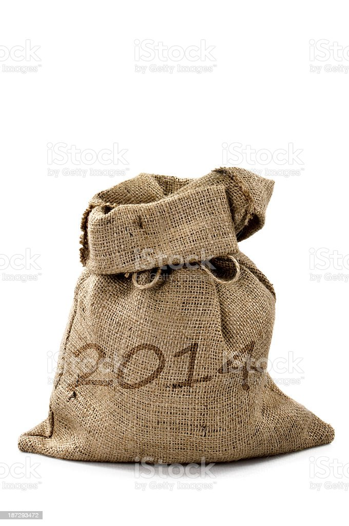 New year 2014 sack royalty-free stock photo