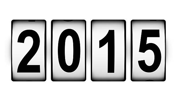 New Year 2015 concept stock photo