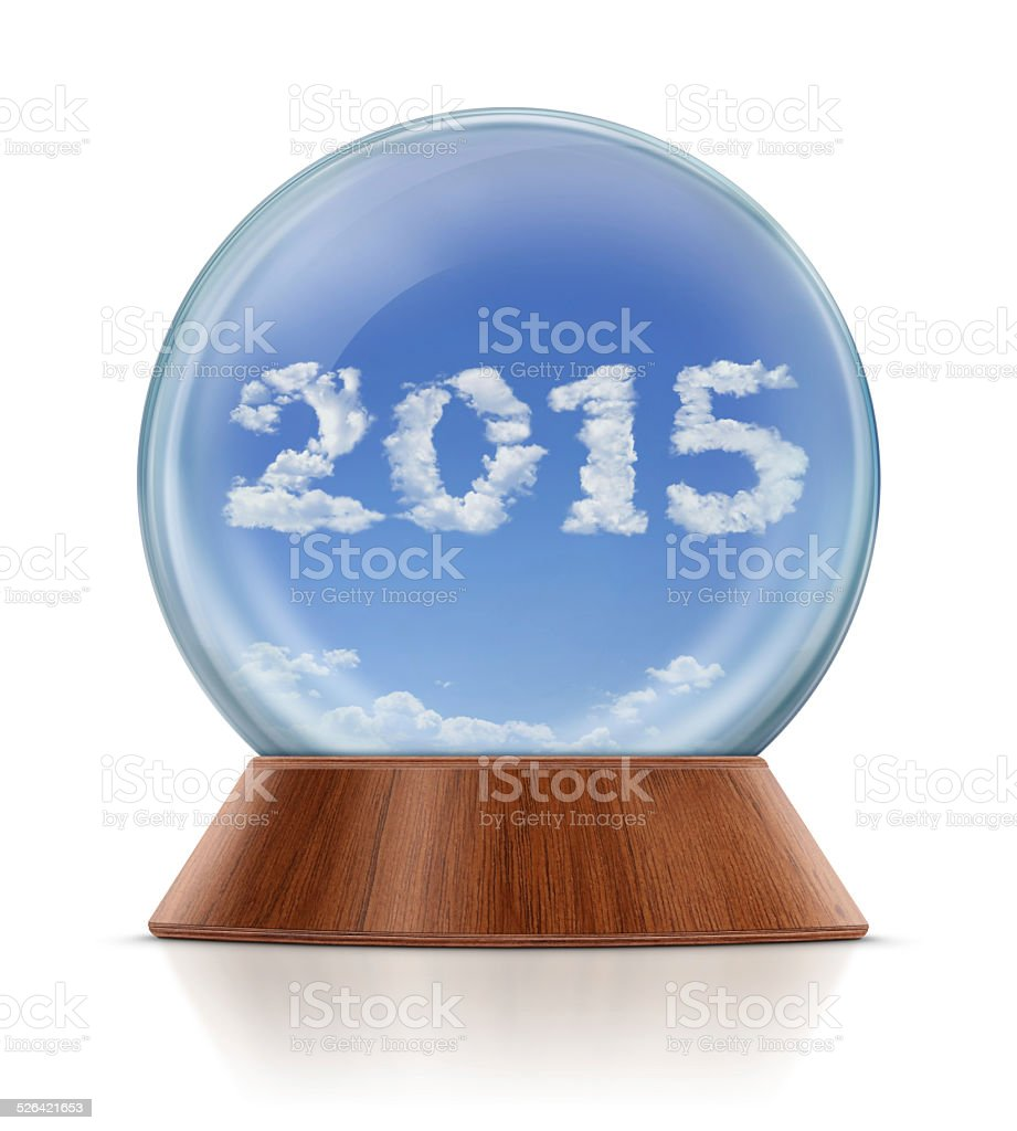New Year 2015 in Snow Globe royalty-free stock photo