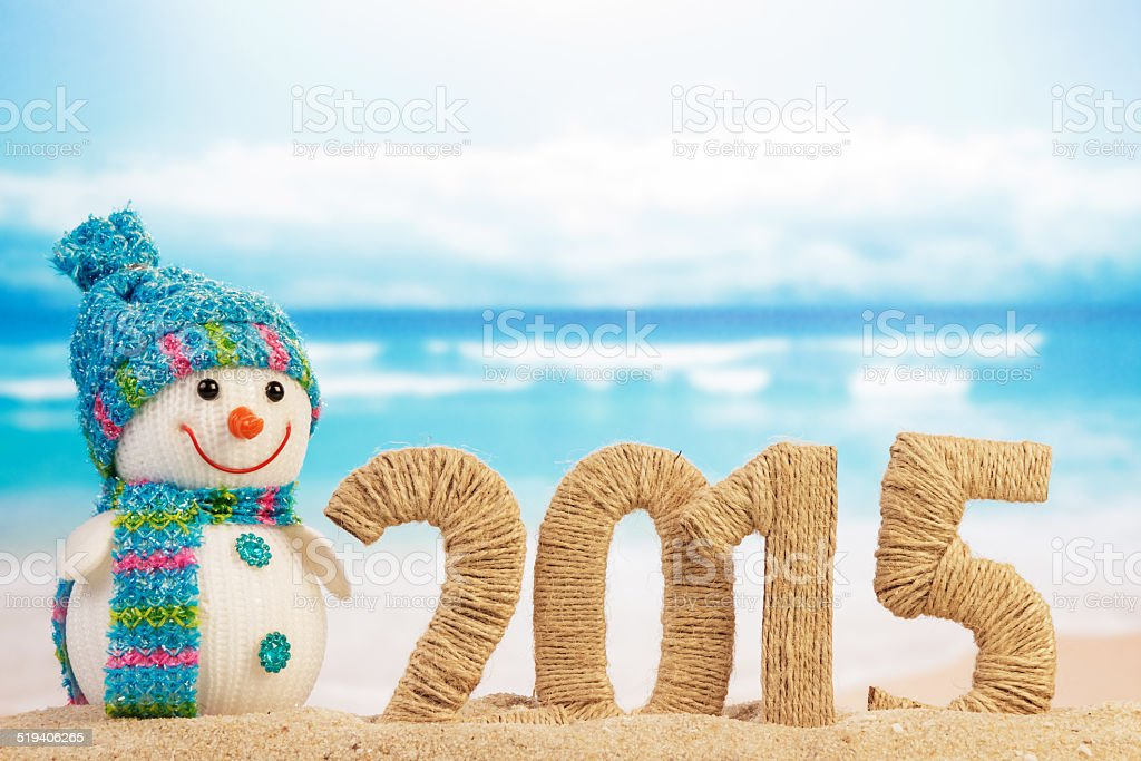 New year 2015 sign stock photo
