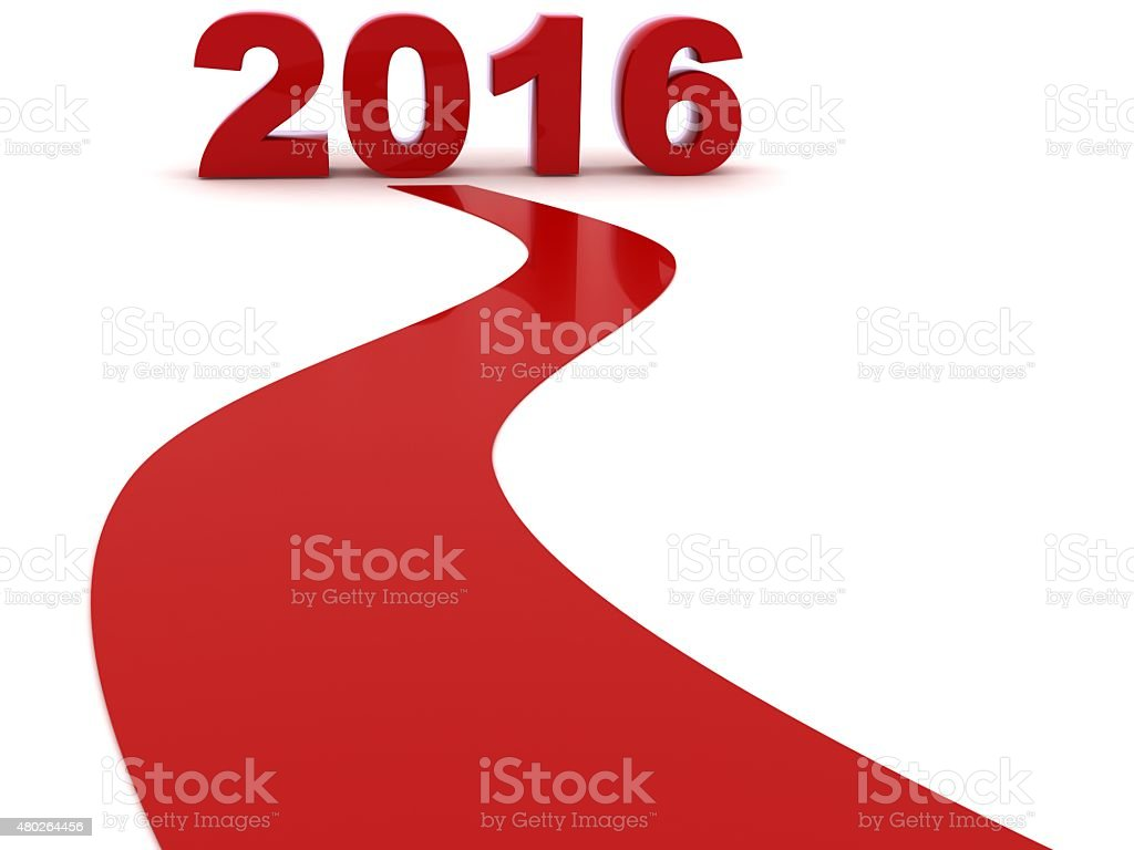 New year 2016 is coming stock photo