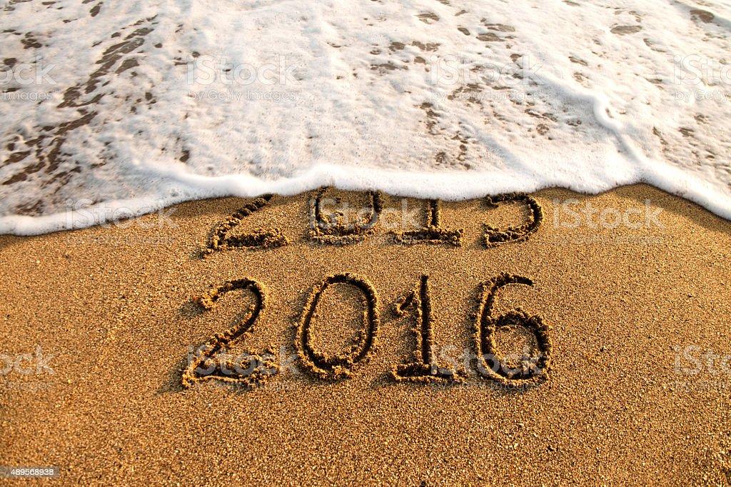 New year 2016 stock photo