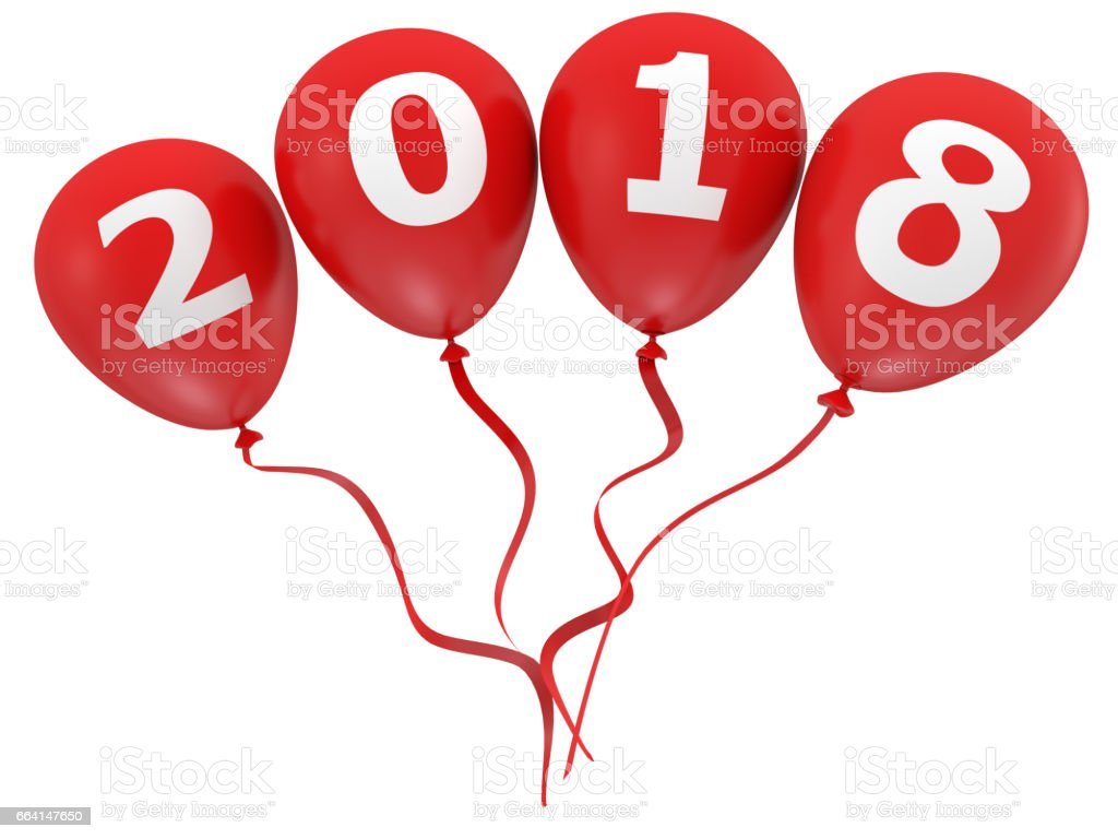 New Year 2017 Balloons foto stock royalty-free