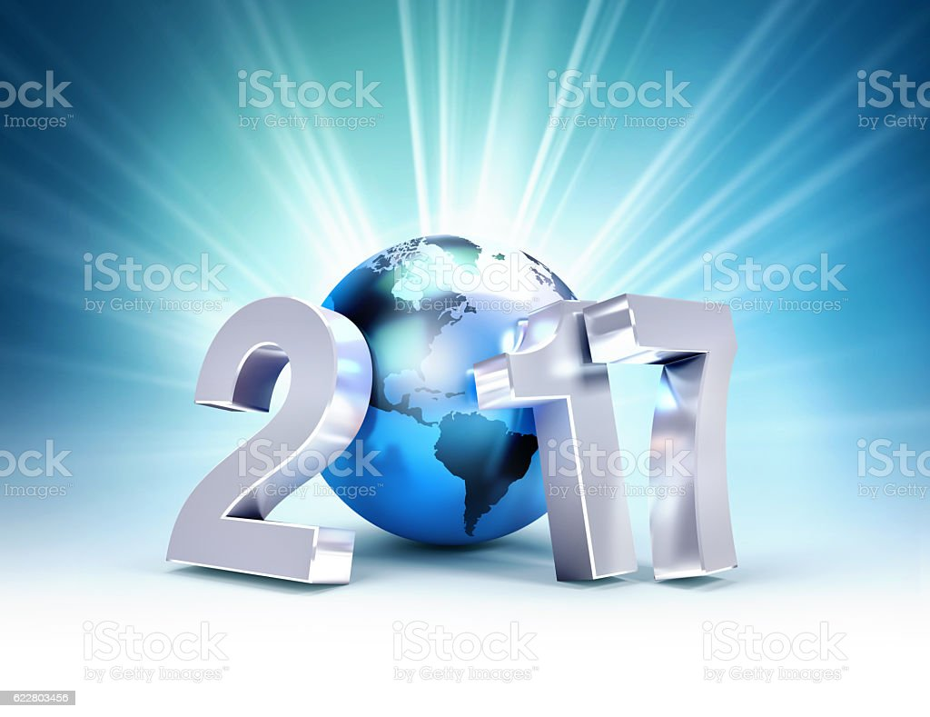New Year 2017 Greetings For Worldwide Business Stock Photo More