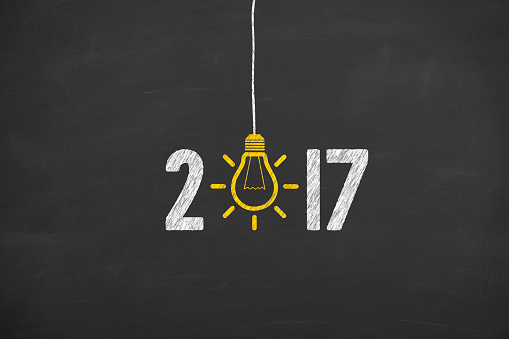 istock New Year 2017 Idea Concept on Chalkboard Background 614738706