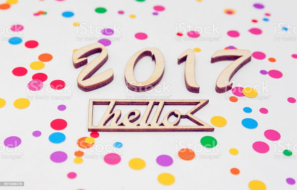 New Year 2017 is coming concept. Hello 2017 photo libre de droits