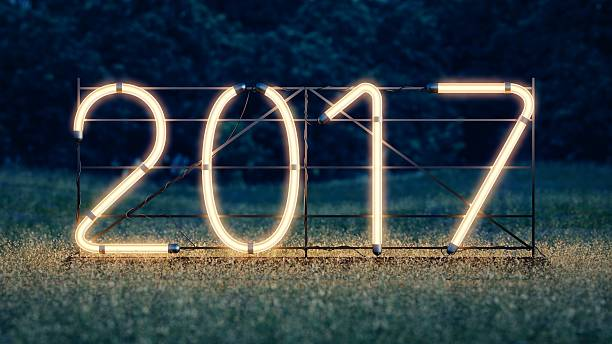New year. 2017 neon sign - Photo