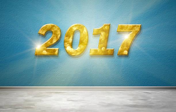 neue jahr 2017 - sprüche kalender stock-fotos und bilder