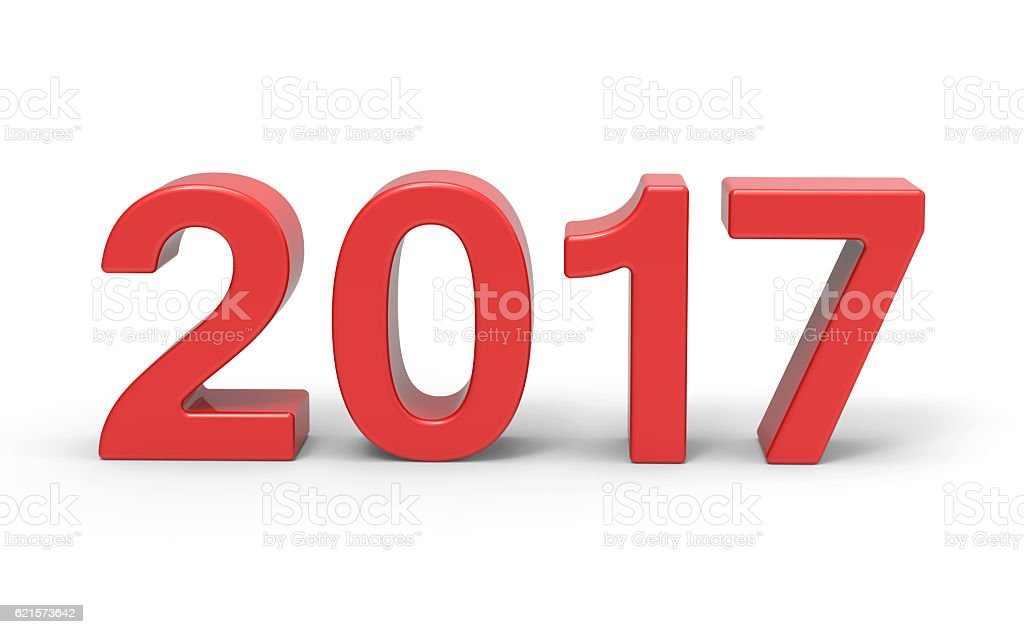 New Year 2017 type, 3d rendering photo libre de droits