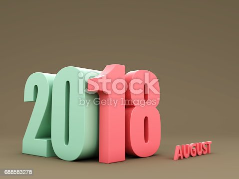 istock New Year 2018 - 3D Rendered Image 688583278