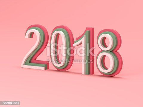 istock New Year 2018 - 3D Rendered Image 688583334