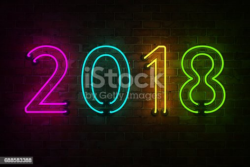 istock New Year 2018 - 3D Rendered Image 688583388