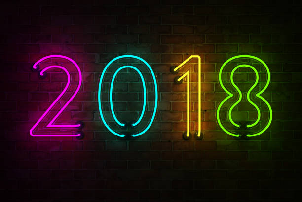 New Year 2018 - 3D Rendered Image stock photo
