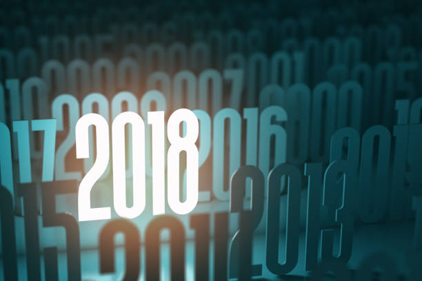 new year 2018. background from different years. - 2010 foto e immagini stock