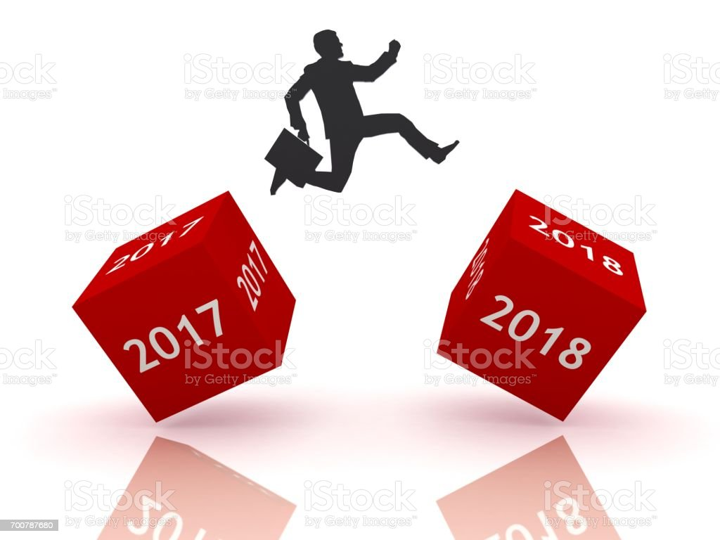 New year 2018 business start stock photo