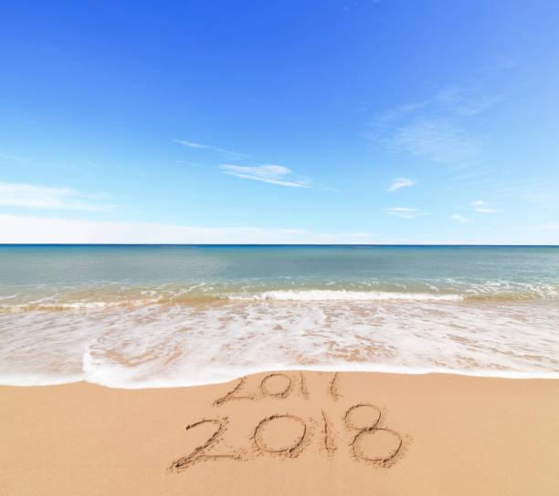 neue jahr 2018 kommen - ideen für silvester stock-fotos und bilder