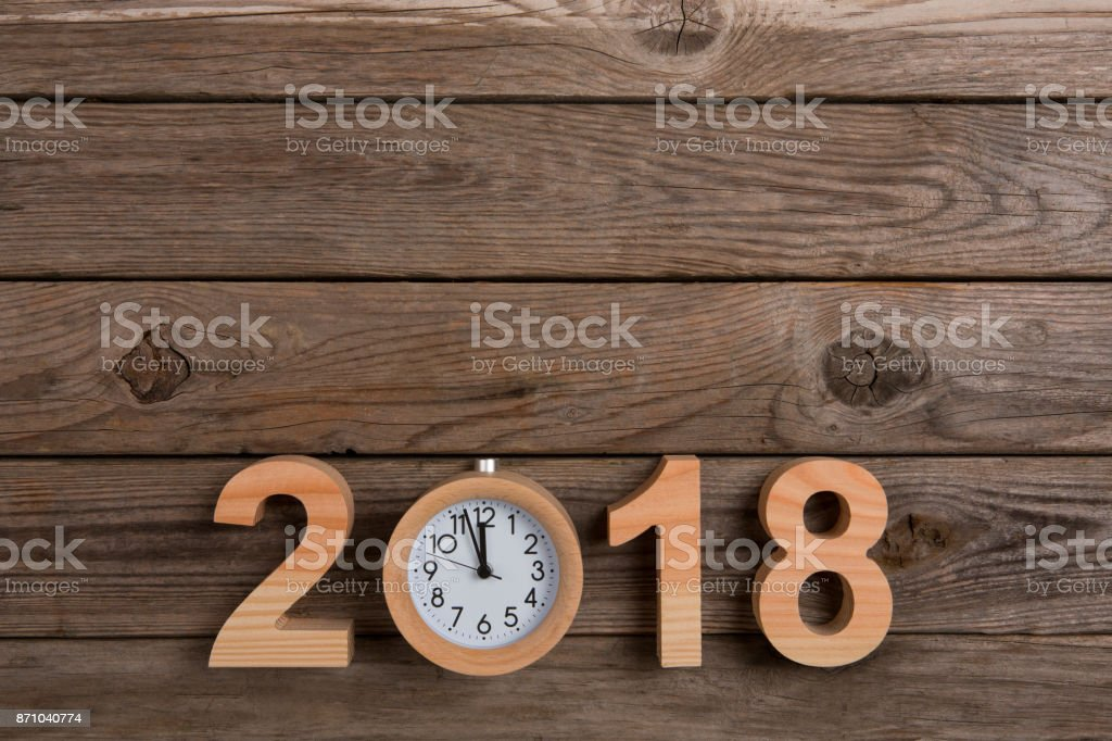 New year 2018 concepts, countdown clock