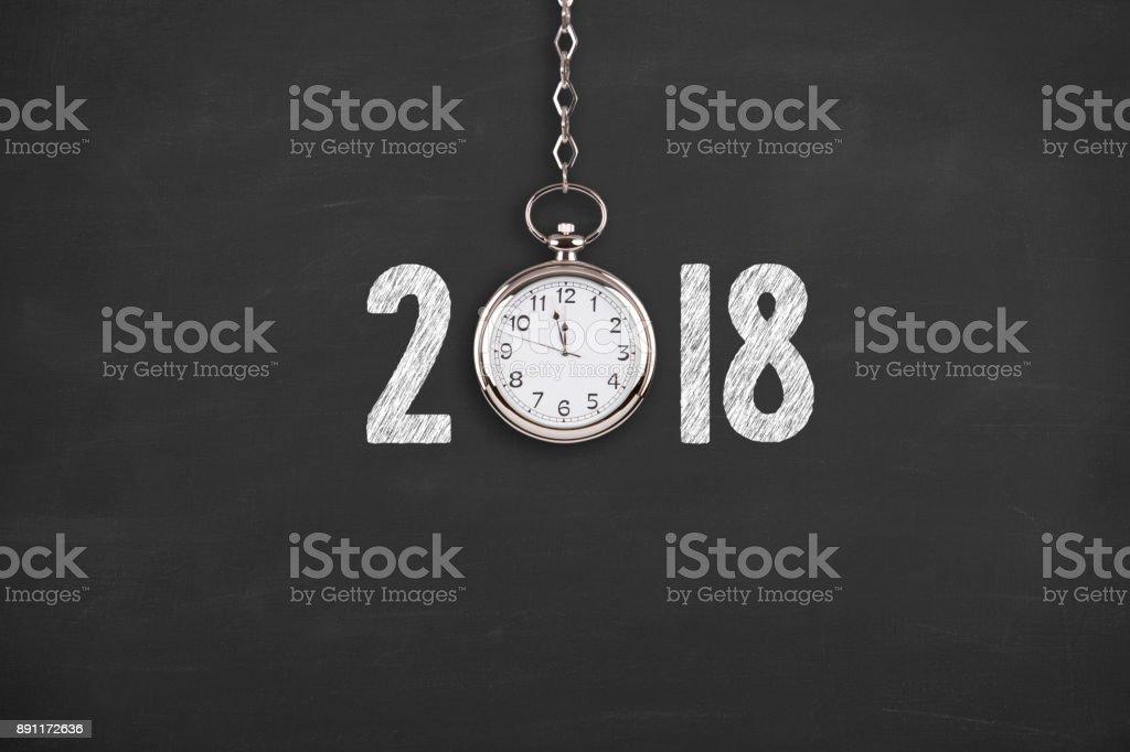 New Year 2018 Countdown Clock on Blackboard