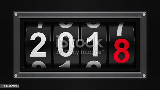 istock New year 2018 counter #3 866645986