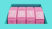 新年 2018年日付の組み合わせロック