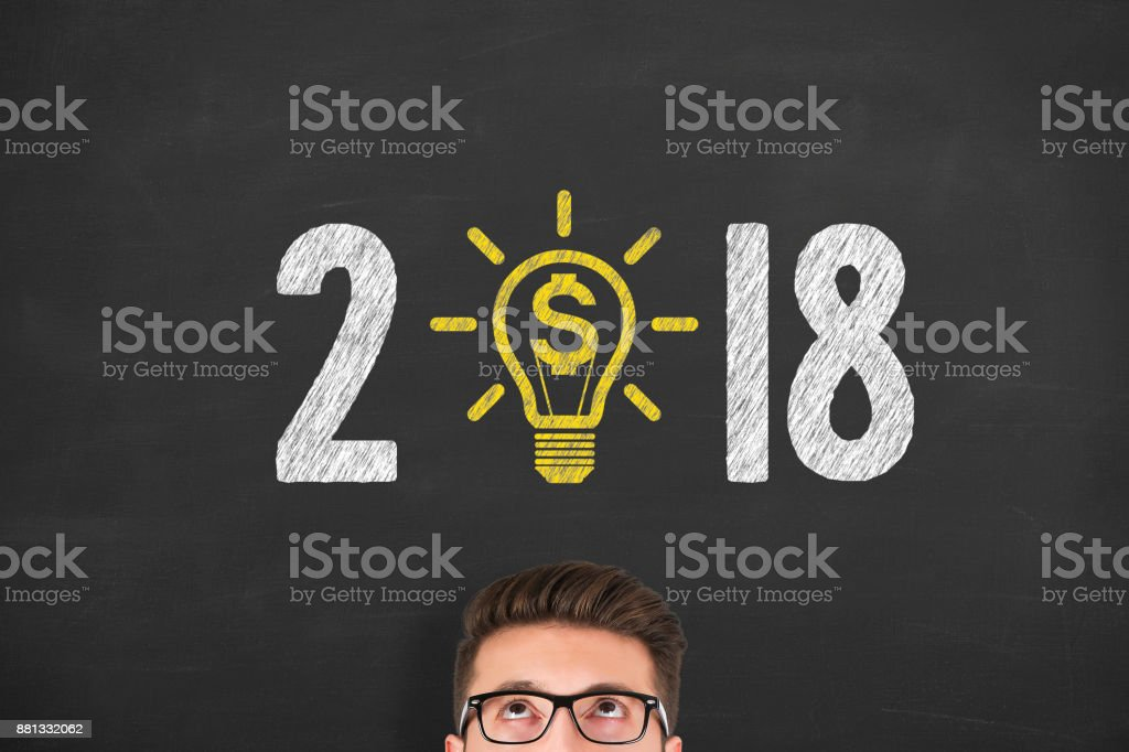 New Year 2018 Finance Concepts stock photo