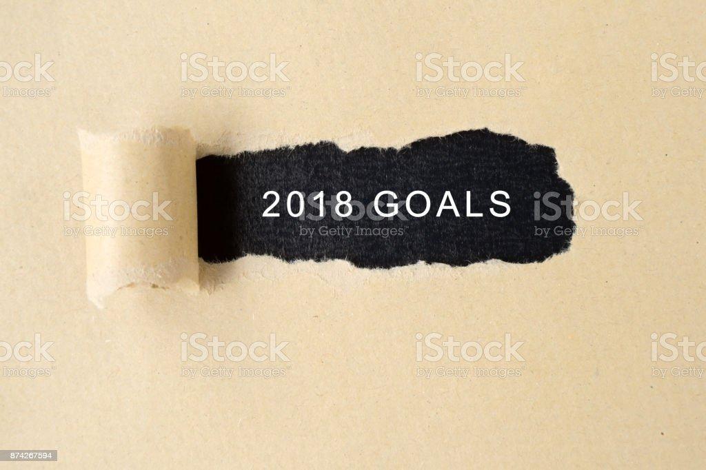 New Year 2018 Goals stock photo