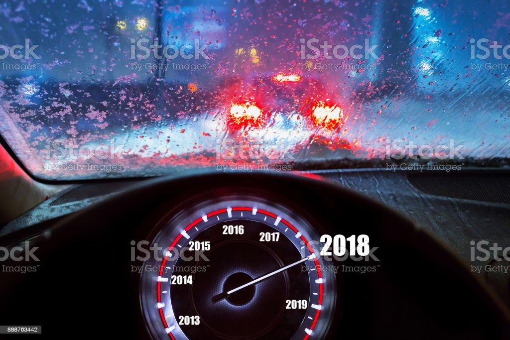 New Year 2018 in the car – zdjęcie