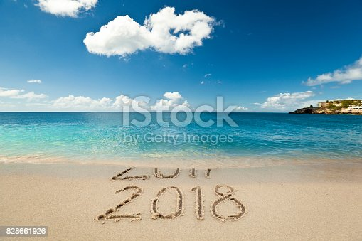 istock New Year 2018 is coming concept 828661926