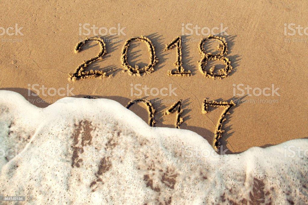 New year 2018 royalty-free stock photo