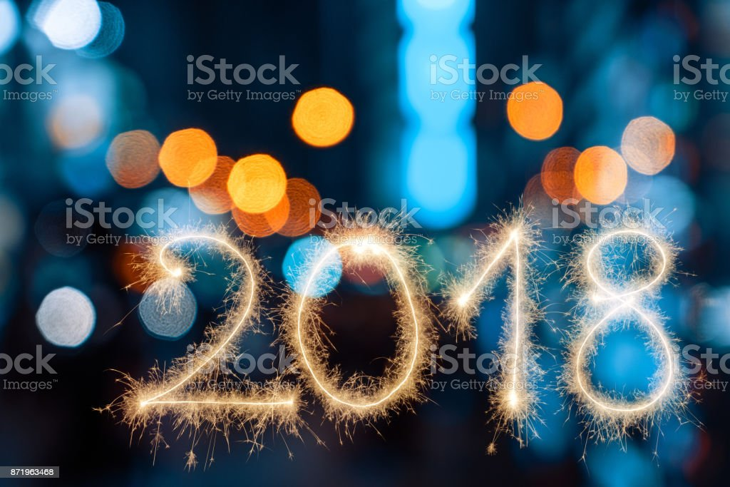 New Year 2018 stock photo
