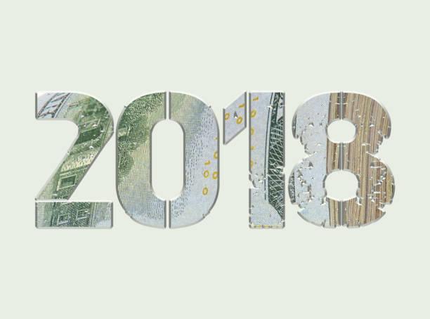 New Year 2018. stock photo