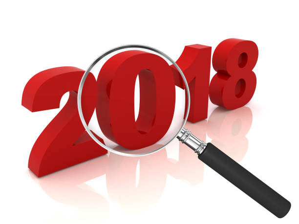 new year 2018 review analysis - 2018 foto e immagini stock