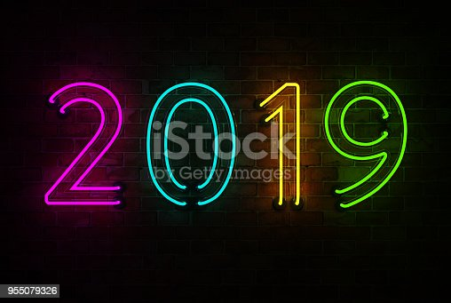istock New Year 2019 - 3D Rendered Image 955079326