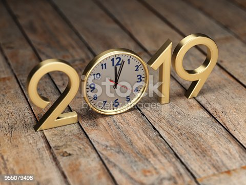 istock New Year 2019 - 3D Rendered Image 955079498