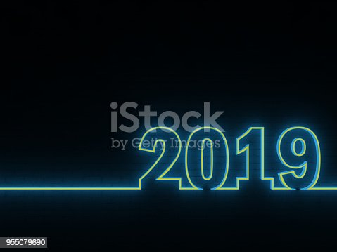 istock New Year 2019 - 3D Rendered Image 955079690